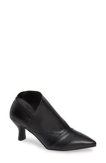 Hayes Pointy Toe Bootie, Black Leather