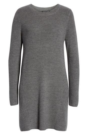 Eileen Fisher Round Neck Merino Wool Tunic, Grey