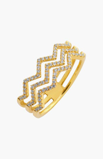 Women's Bony Levy 'Prism' 3-Row Diamond Ring (Limited Edition) (Nordstrom Exclusive)