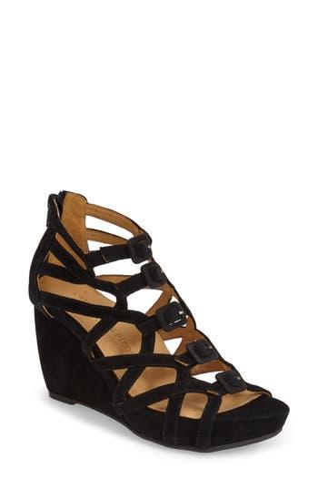 Women's L'Amour Des Pieds'Ivanna' Gladiator Wedge Sandal, Size 10 M - Black