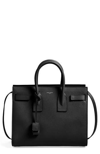 Saint Laurent 'Small Sac De Jour' Grained Leather Tote - Black