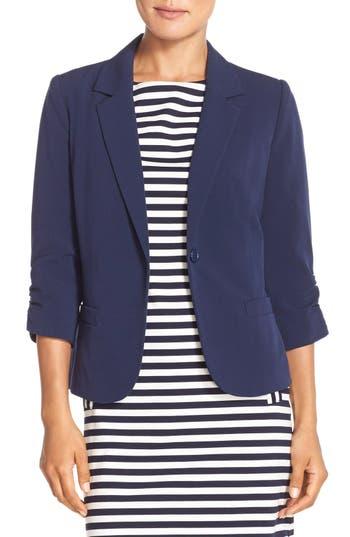 Women's Eliza J Ruched Sleeve Blazer