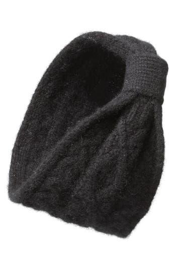 L. Erickson Convertible Cable Knit Cashmere Head Wrap