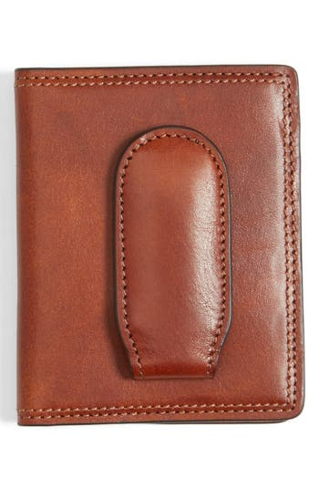 Bosca Leather Front Pocket Money Clip Wallet -