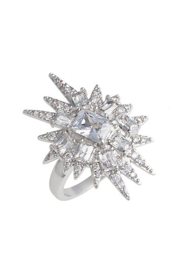 Women's Cz By Kenneth Jay Lane 'Explosion' Cubic Zirconia Cocktail Ring