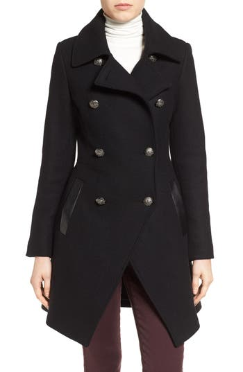 Women's Trina Turk Wool Blend Military Coat