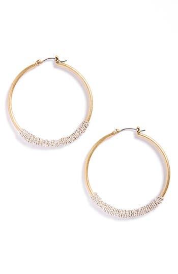 Women's Canvas Jewelry Wire Wrapped Crystal Hoop Earrings