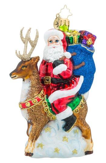 Christopher Radko 'Love My Ride' Santa & Reindeer Ornament