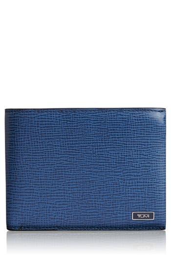 Men's Tumi 'Monaco' Global Double Billfold Leather Wallet - Blue