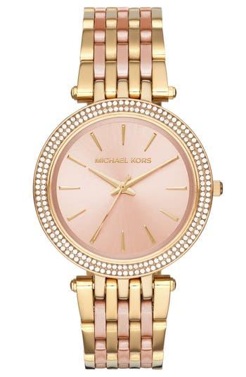 Women's Michael Kors 'Darci' Round Bracelet Watch, 39Mm