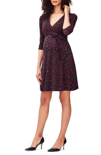 Women's Leota 'Perfect Wrap' Maternity Dress