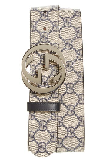Men's Gucci Logo Buckle Belt