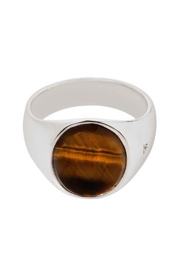 Women's Tom Wood Oval Tiger's Eye Signet Ring