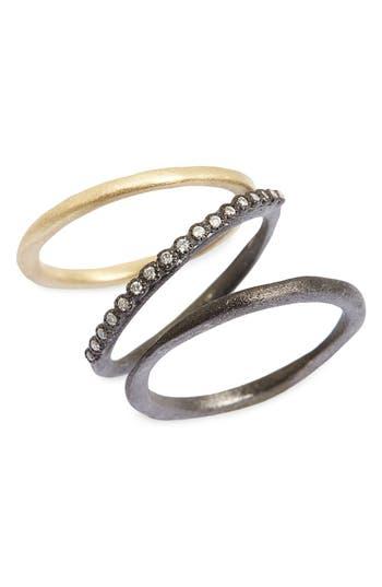 Women's Armenta Old World Diamond Stacking Rings (Set Of 3)