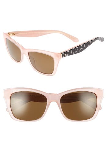 Unique Retro Vintage Style Sunglasses & Eyeglasses Womens Kate Spade New York Jenae 53Mm Polarized Sunglasses - Pink Black $107.98 AT vintagedancer.com