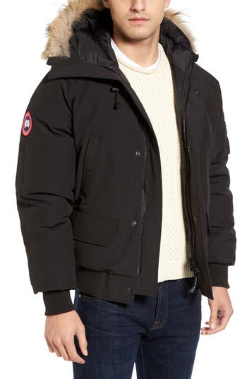 Men's Canada Goose 'Chilliwack' Down Bomber Jacket With Genuine Coyote Trim