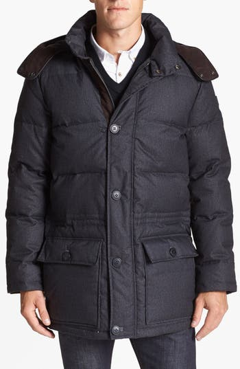 Men's Vince Camuto 680-Down Fill Quilted Hooded Parka