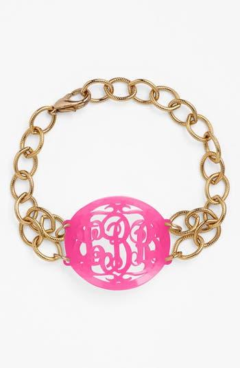 Women's Moon And Lola 'Annabel' Medium Oval Personalized Monogram Bracelet (Nordstrom Exclusive)