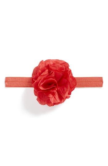 Plh Bows & Laces Flower Headband, Size 0-24 M - Orange