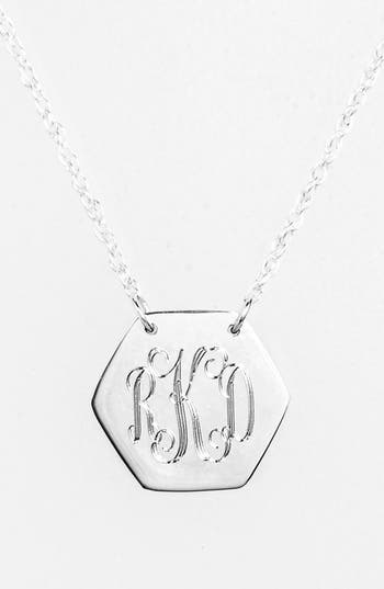 Women's Jane Basch Designs Personalized Hexagon Pendant Necklace