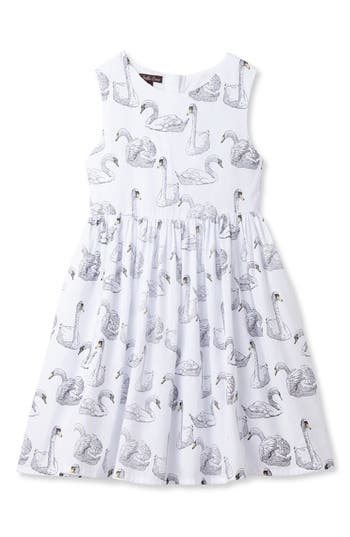 Girl's Stella Cove Swan Print Dress