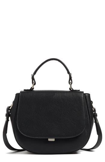 Chelsea28 Kyle Faux Leather Saddle Bag - Black