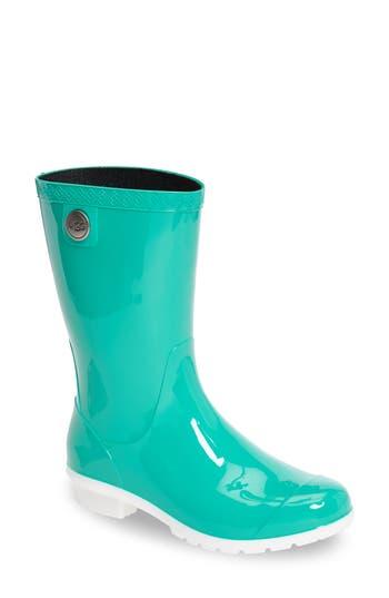 Women's Ugg 'Sienna' Rain Boot, Size 6 M - Green