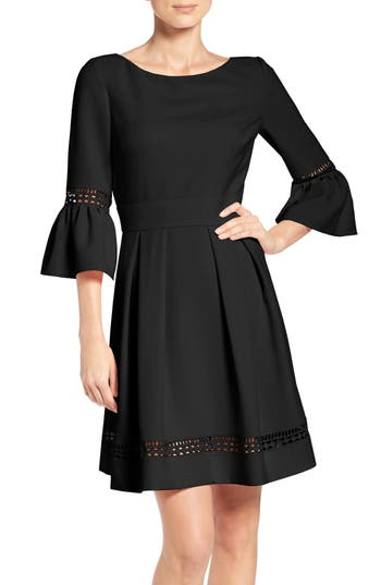 Eliza J Bell Sleeve Dress, Black