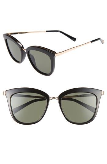 Le Specs Caliente 5m Cat Eye Sunglasses - Black/ Gold