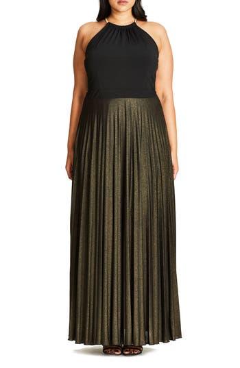 Plus Size Women's City Chic Colorblock Maxi Dress