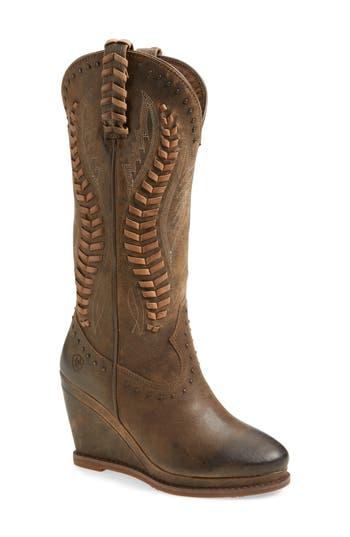 Ariat Nashville Western Wedge Boot- Brown