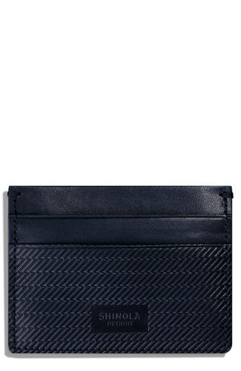 Shinola Leather Card Case - Blue