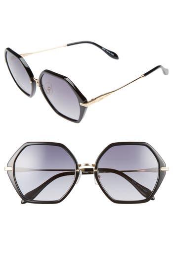 Women's Sonix Willow 55Mm Octagon Sunglasses - Black/ Black Fade