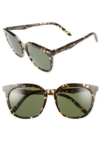 Victoria Beckham Combination Classic 5m Sunglasses - Amber Tortoise Shell