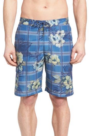 Big & Tall Tommy Bahama Baja House Of Plaid Board Shorts, Blue