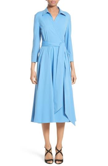Women's Michael Kors Stretch Cotton Poplin Wrap Shirtdress