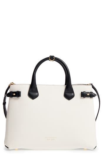 Burberry Medium Banner House Check Leather Tote -