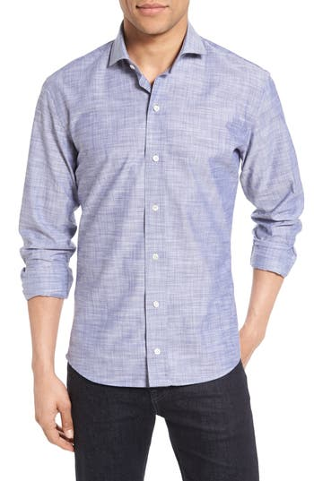 Men's Ledbury The Mcdaniel Slim Fit Sport Shirt