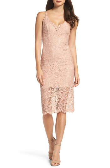 Women's Bardot Lace Pencil Dress