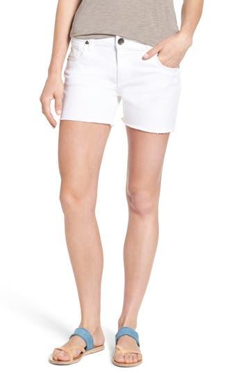 Gidget Fray Hem Denim Shorts