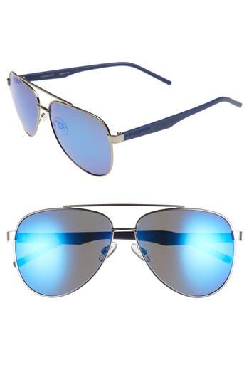 Men's Polaroid Eyewear 61Mm Polarized Aviator Sunglasses - Matte Dark Ruthenium