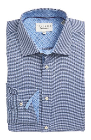 Men's Ted Baker London Chimy Trim Fit Geometric Dress Shirt