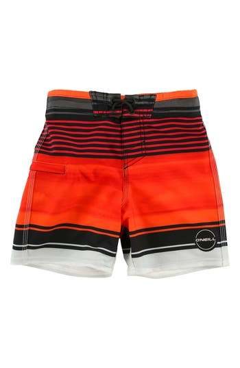 Toddler Boy's O'Neill Hyperfreak Heist Board Shorts, Size 3T - Red