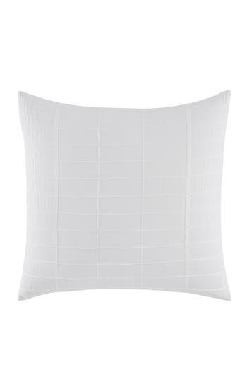 Vera Wang Mirrored Square Euro Sham, Size One Size - White
