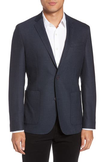 Men's Vince Camuto Digital Houndstooth Wool Blend Sport Coat