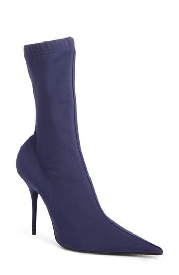 Balenciaga Pointy Toe Mid Boot, Blue