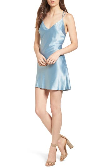 Women's Privacy Please Raven Slipdress, Size Large - Blue