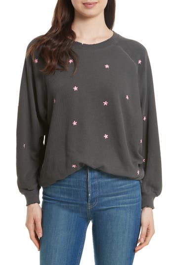 Women's The Great. The Embroidered Bubble Sweatshirt