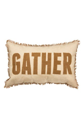 Primitives By Kathy Gather Accent Pillow, Size One Size - Beige