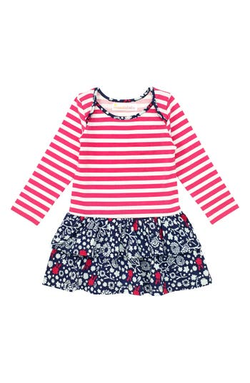 Infant Girl's Masalababy Belle Organic Cotton Dress, Size 12-18M - Pink